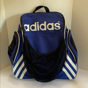 Adidas blue soccer backpack girls boys Small flaws